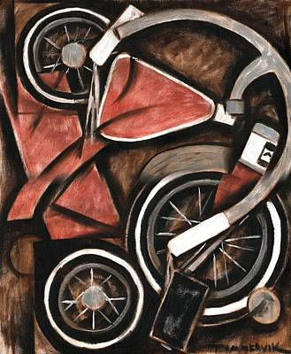 Bike Painting -  Abstract Tricycle Art Print by Tommervik