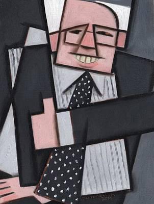 Painting - Tommervik Cool Abstract Bernie Sanders Art Print by Tommervik