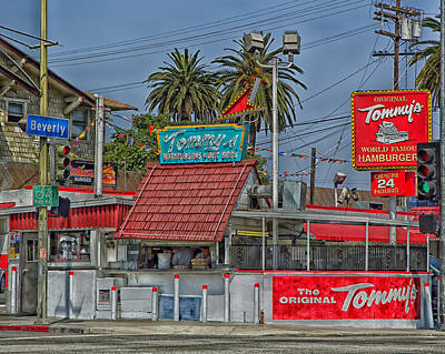Tommy's World Famous Hamburgers - Los Angeles Print by Mountain Dreams