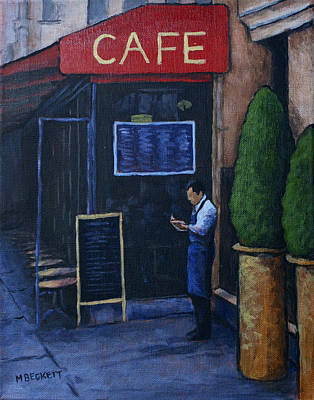 Store Fronts Painting - Tomorrow's Menu by Michael Beckett
