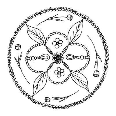 Detail Drawing - Tondo Dessin Black On White 16-01-08 by Leana De Villiers