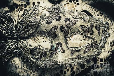 Hide Photograph - Toned Image Of Beautiful Festive Venetian Mask by Jorgo Photography - Wall Art Gallery