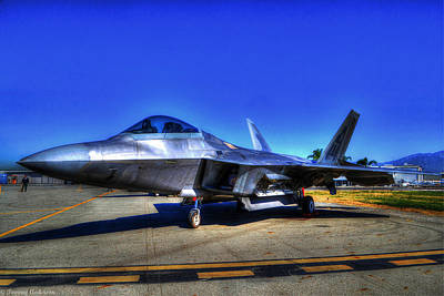 Planes Of Fame Photograph - Tonemapped Raptor by Tommy Anderson