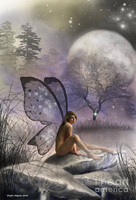 Spirt Digital Art - Tonight She Waits by Crispin  Delgado