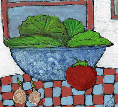 Lettuce Painting - Tonight's Salad by Wayne Potrafka