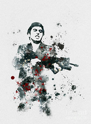 Hollywood Mixed Media - Tony Montana by Rebecca Jenkins