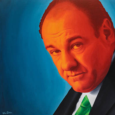 Fan Art Painting - Tony Soprano by Ellen Patton