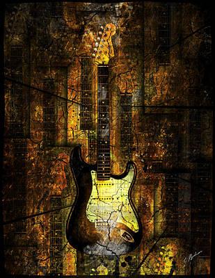 Guitar Digital Art - Too Hot To Handle 02 by Gary Bodnar