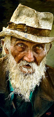 Male Portraits Digital Art - Too Old To Die Young Now by James Shepherd