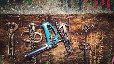 Tools Of The Cattle Trade Print by Thomas Zimmerman