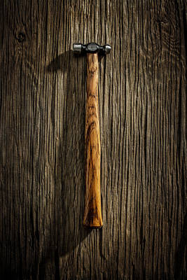 Hammer Photograph - Tools On Wood 18 by Yo Pedro