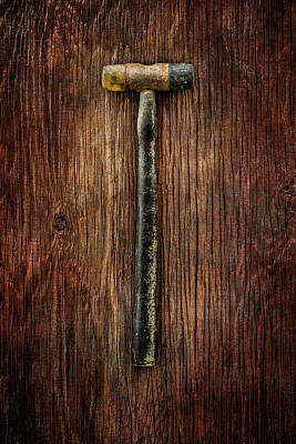Hammer Photograph - Tools On Wood 35 by YoPedro