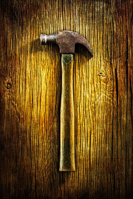 Hammer Photograph - Tools On Wood 40 by YoPedro