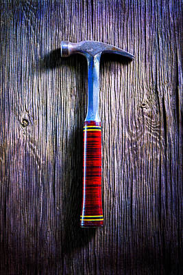 Hammer Photograph - Tools On Wood 42 by YoPedro