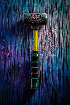 Hammer Photograph - Tools On Wood 44 by YoPedro