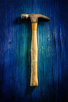 Hammer Photograph - Tools On Wood 49 by YoPedro