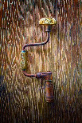 Bits Photograph - Tools On Wood 61 by YoPedro