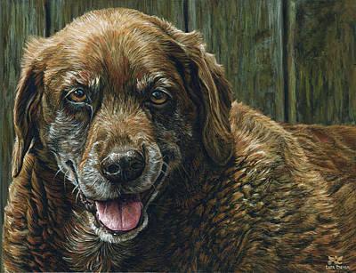 Old Age Painting - Tootsie by Cara Bevan