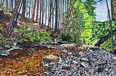 Top Of Dingman Falls Print by Micah Mullen