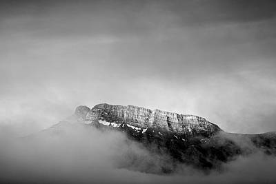 Top Of Mount Rundle II Print by Jon Glaser