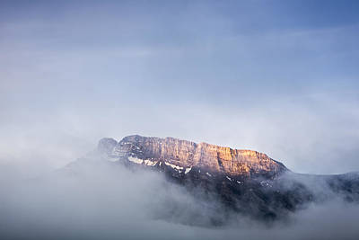 Top Of Mount Rundle Print by Jon Glaser