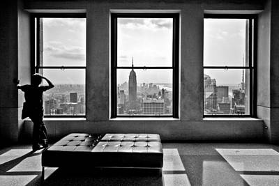 Black Top Photograph - Top Of The Rock by Thomas Splietker