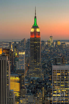 New York City Skyline Photograph - Top Of The Rock Twilight Iv by Clarence Holmes