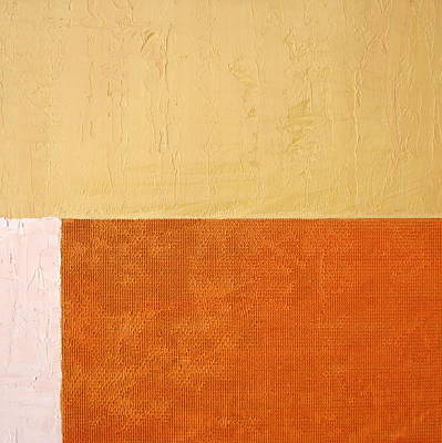 Rust Painting - Topaz Pink Orange by Michelle Calkins