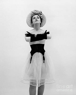Topless Woman With Long Gloves, C.1950s Print by Corry/ClassicStock
