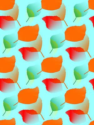 Orange Digital Art - Toppling Nature by Kathleen Sartoris