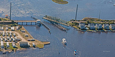Clear Weather Photograph - Topsail Swing Bridge by Betsy Knapp