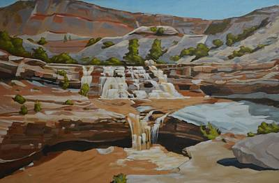 Southern Utah Painting - Toquerville Falls by Nick Froyd