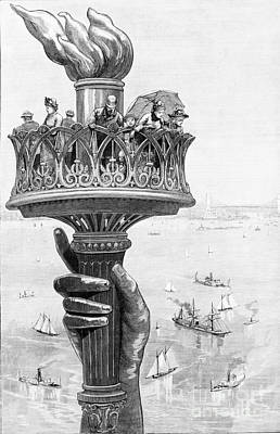 Liberte Photograph - Torch Of Statue Of Liberty, 1885 by Science Source