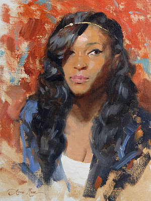 Black Women Painting - Tori Portrait Demo by Anna Rose Bain