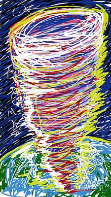 Tornado Drawing - Tornado Alert by Robert Yaeger