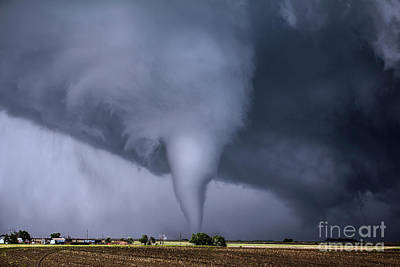 Tornado And House Print by Francis Lavigne-Theriault