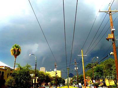 St Charles Avenue Photograph - Tornado Forming Over Downtown New Orleans Louisiana by Michael Hoard