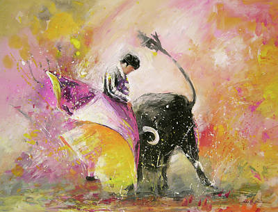Art Miki Painting - Toro Tenderness by Miki De Goodaboom