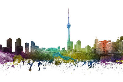 Canada Drawing - Toronto Cityscape 01 by Aged Pixel