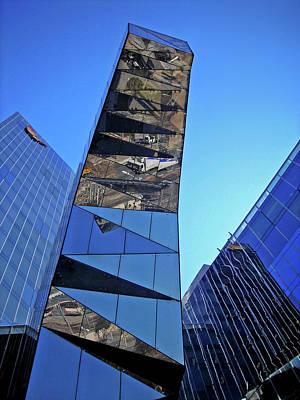 Abstrakt Photograph - Torre Mare Nostrum - Torre Gas Natural by Juergen Weiss