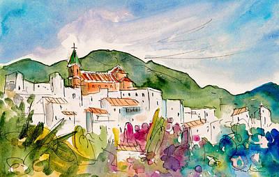 Travel Sketch Drawing - Torrox 01 by Miki De Goodaboom