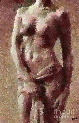 Nudes Mixed Media - Torso by Dragica  Micki Fortuna