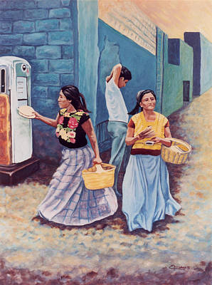 Tortilla Sellers Print by Emiliano Campobello