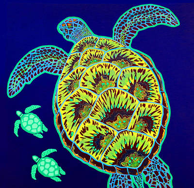 Turtle Painting - Tortue by Debbie Chamberlin