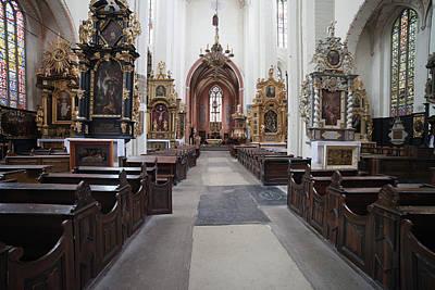 Medieval Temple Photograph - Torun Cathedral Interior In Poland, by Artur Bogacki