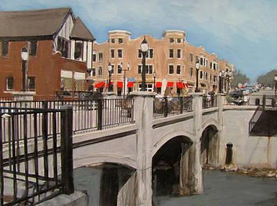Tosa Village Bridge Original by Anita Burgermeister
