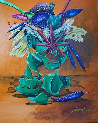 Green Beans Painting - Tossed Salad  by James Henry
