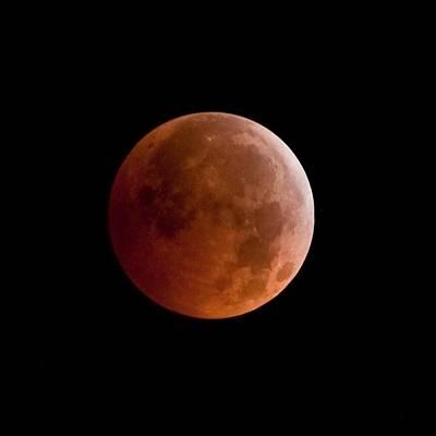 Lunar Digital Art - Total Lunar Eclipse by Jim DeLillo