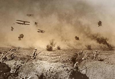 Doughboy Photograph - Total Trench Warfare World War One  1918 by Daniel Hagerman