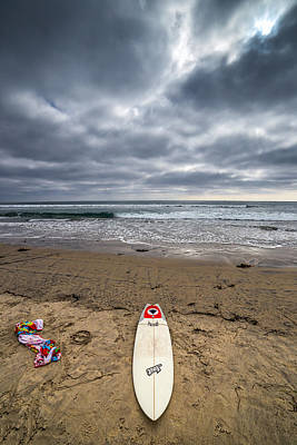 Ocean Photograph - Totally Board by Peter Tellone